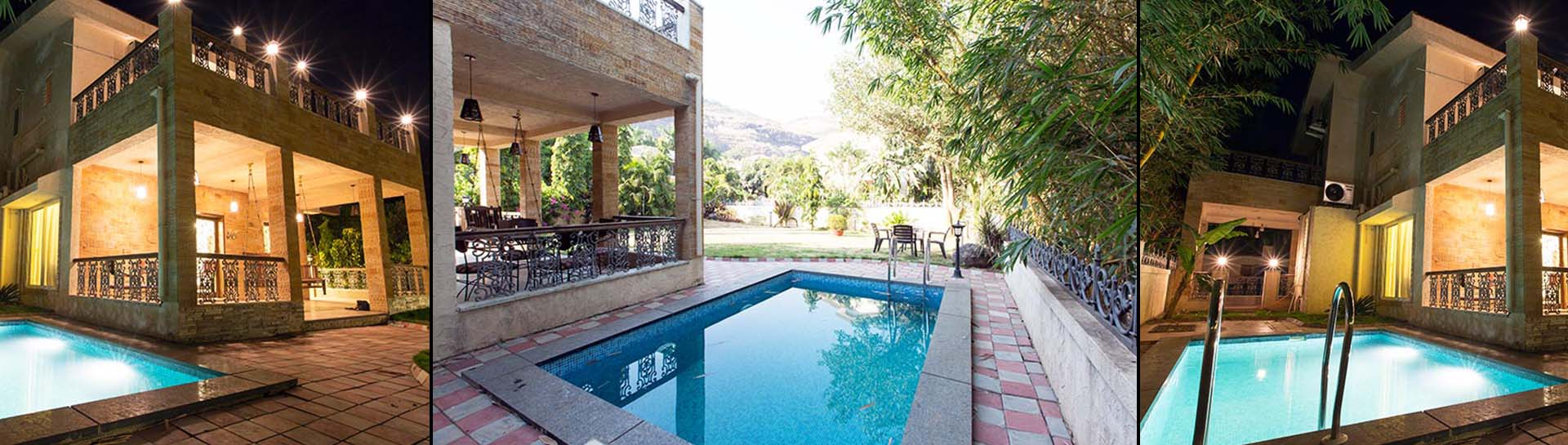 Luxurious 4 bhk bungalow with private pool in lonavala for Bunglows on rent in lonavala with swimming pool